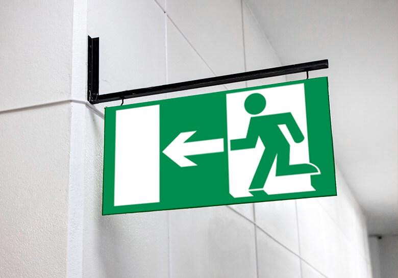 cartello uscita di sicurezza